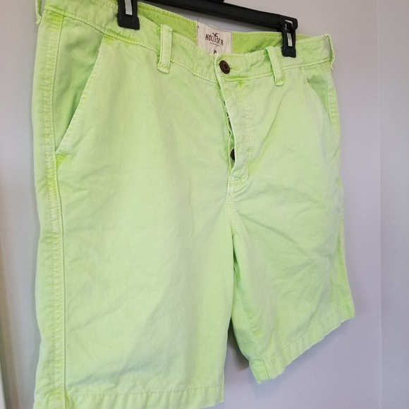 Hollister Other - Hollister *Sz 36* Mens Neon Green Shorts